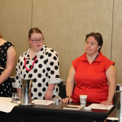 The Down syndrome Advisory network group at a presentation
