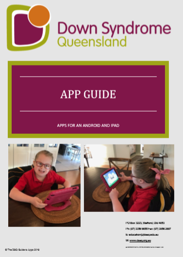 Down Syndrome Queensland - App Guide Booklet