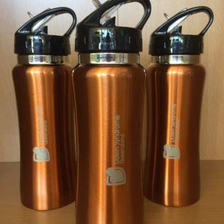 Down Syndrome Queensland bronze water bottle.