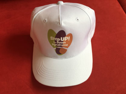 White step up for Down syndrome hat