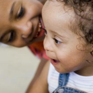 Two children bonding