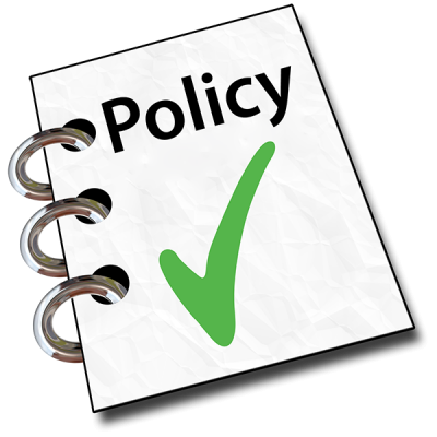 A document with the word 'Policy'