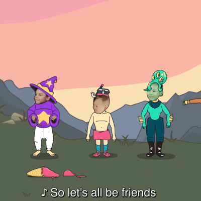 Let's all be friends thumbnail.
