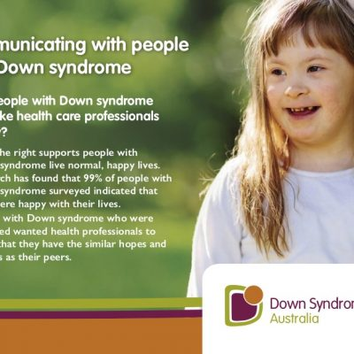 Communicating with people with Down syndrome (Postcard)