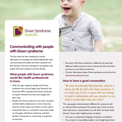 Communicating with people with Down syndrome
