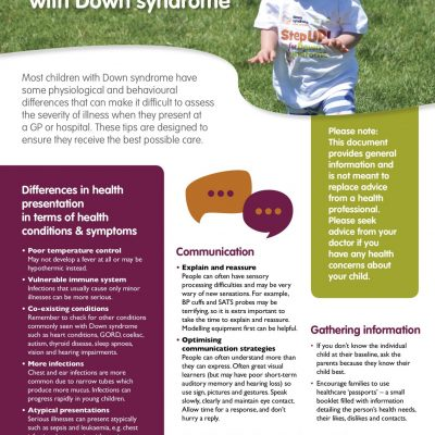 Tips for assessing illness in children with Down syndrome