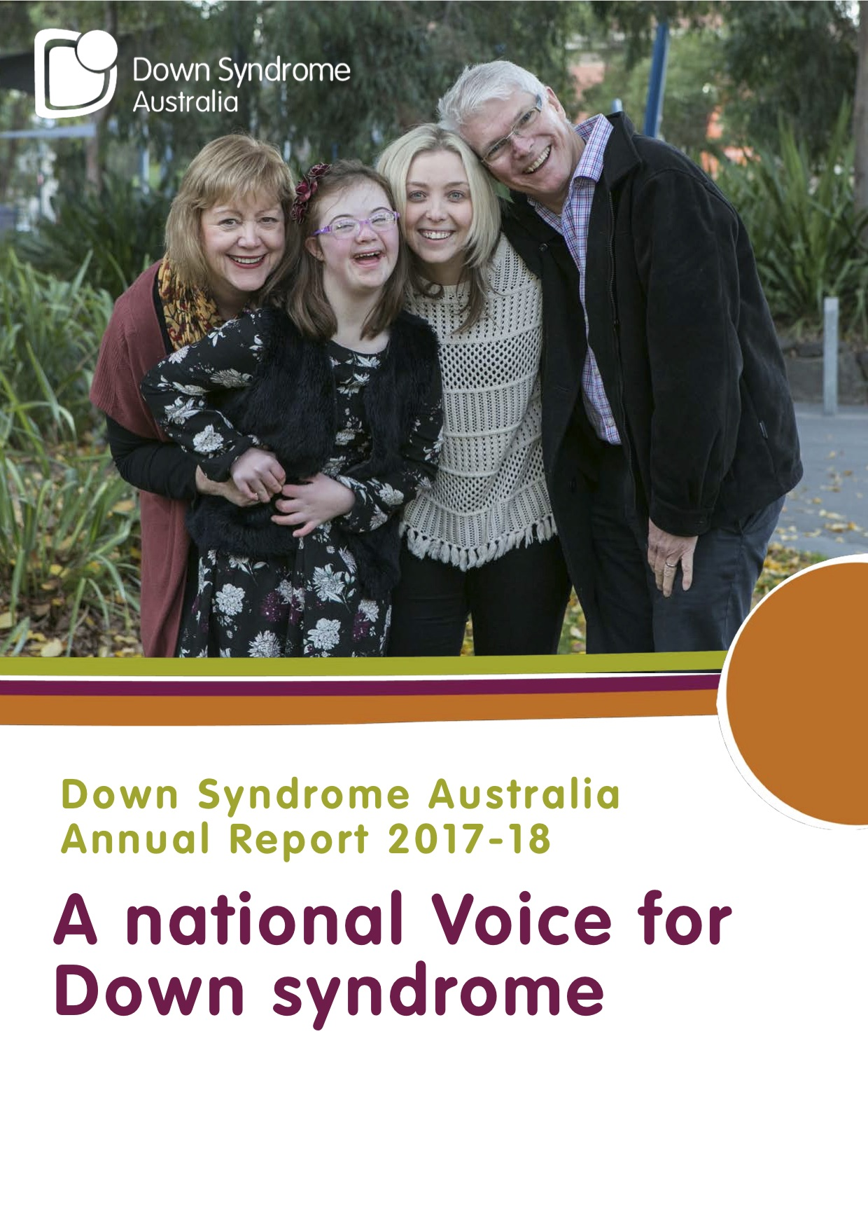 Down Syndrome Australia Annual Report 2018 Cover