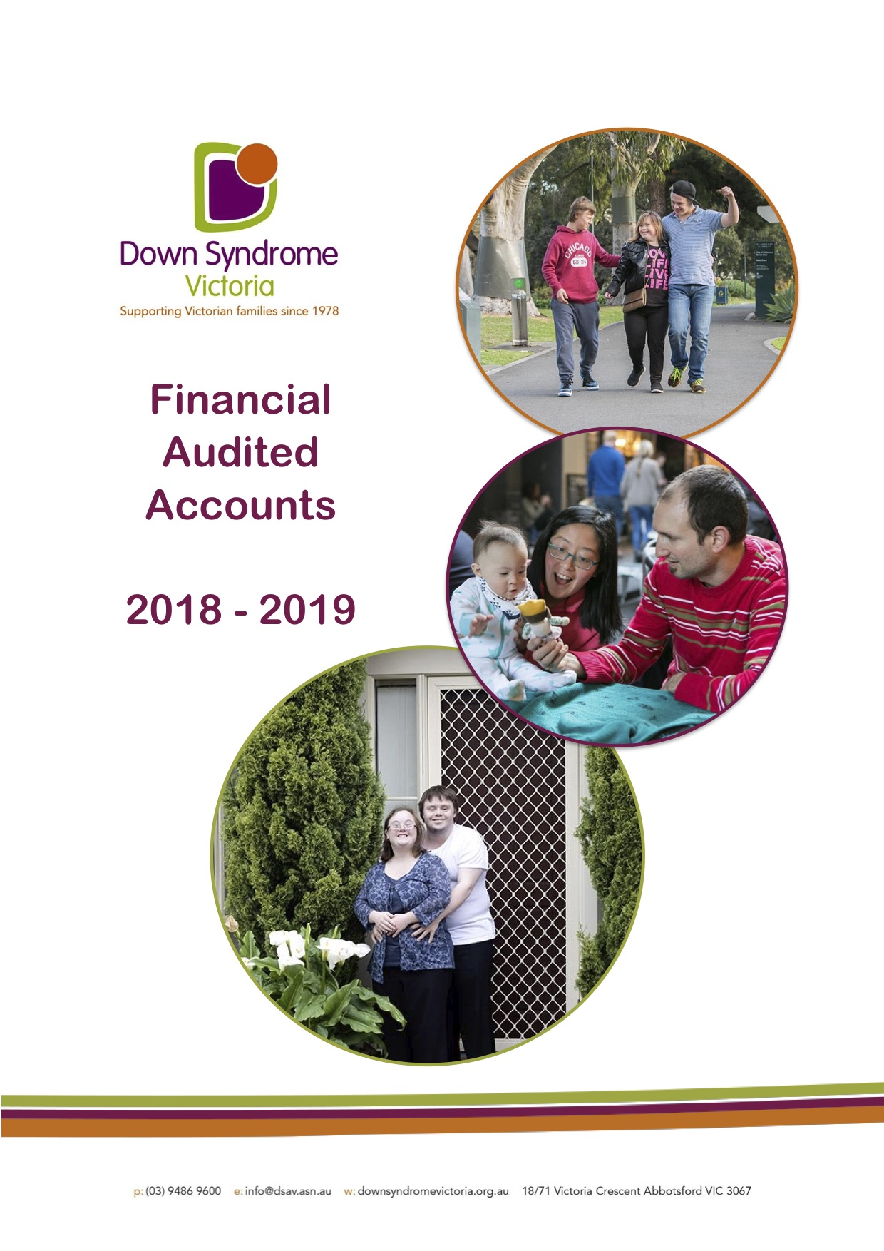 Down Syndrome Victoria Financial Report 2018 to 2019