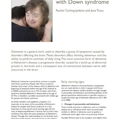 Dementia in people with Down syndrome (Voice Article)