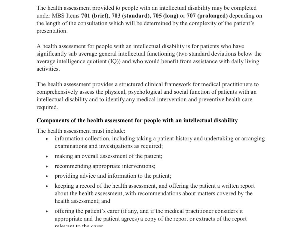 Health Assessment for people with an intellectual disability Factsheet Final cover