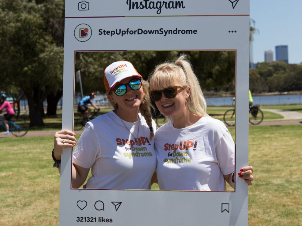 step up for down syndrome instagram frame