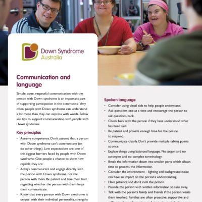A fact sheet about communication