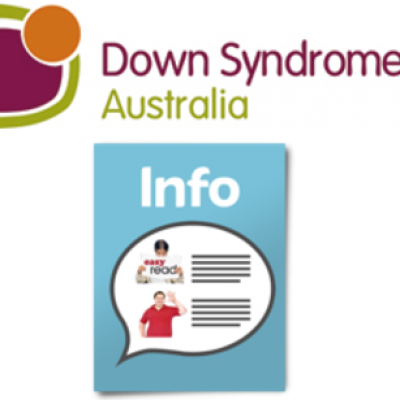 Down Syndrome Australia and an information booklet