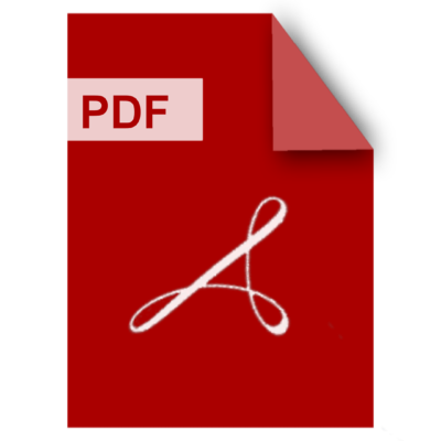 A graphic shows the icon for PDF on a red background