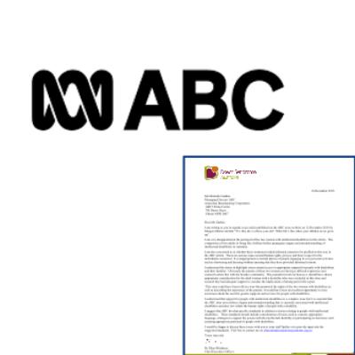 A letter to the ABC and ABC logo
