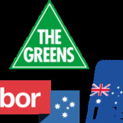 Logos of different Australian political parties