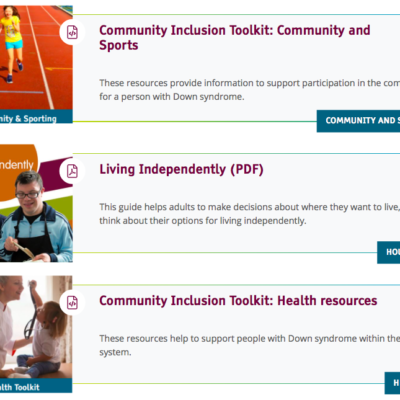 A screenshot from the resource hub shows search results. Iformation is shown about community, health and housing resources.