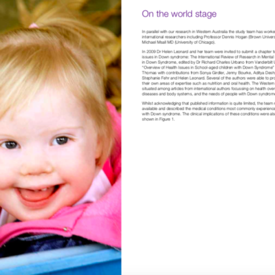 Understanding Down Syndrome: Capturing family experiences through research
