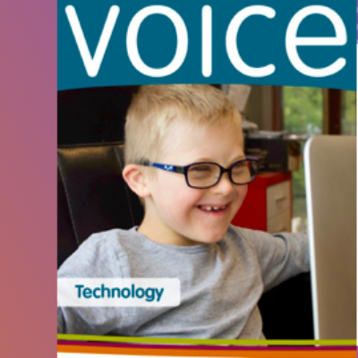 The cover of April Voice Journal
