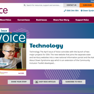 The Voice website