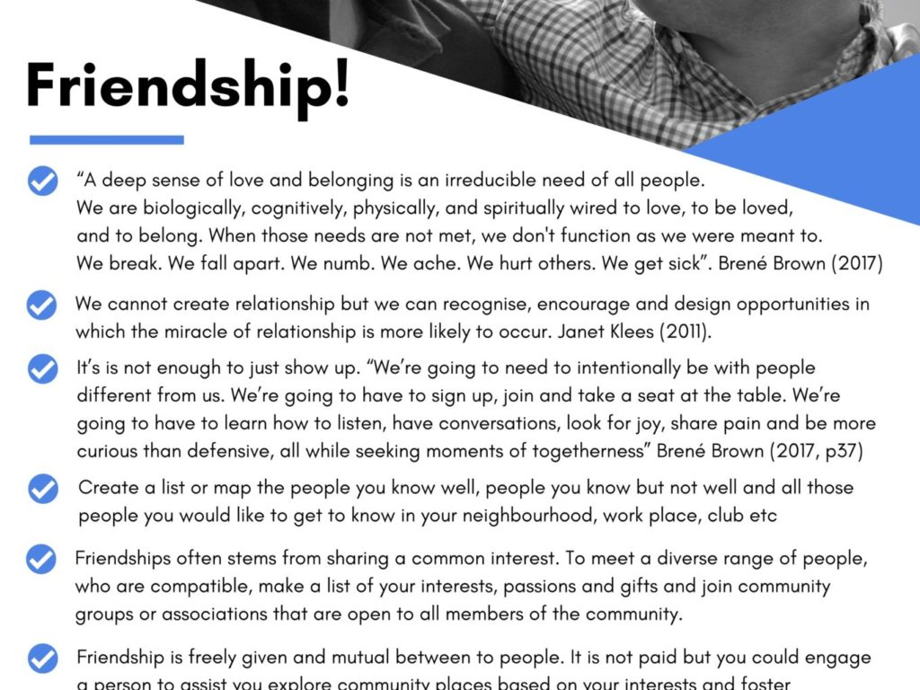 Friendship – Tip Sheet thumbnail.