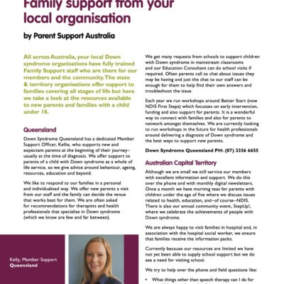 What we can do for you – Family support from your local organisation