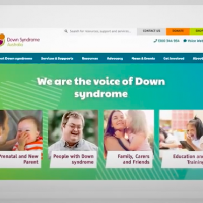 New Down Syndrome Australia website