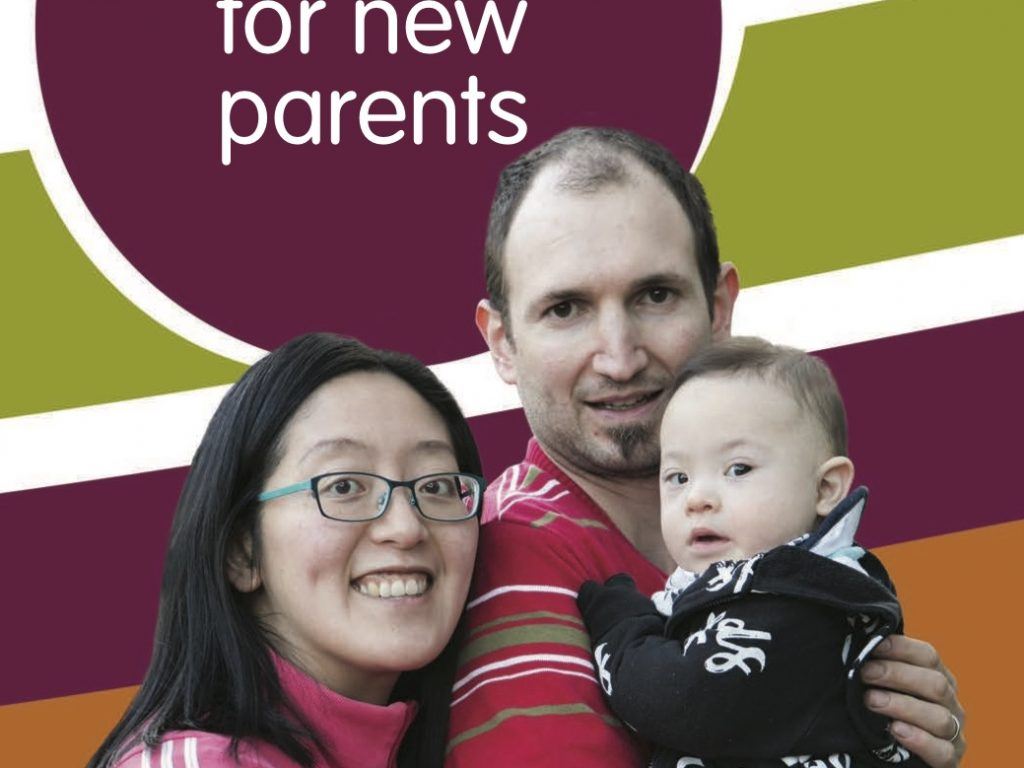 The cover of the New parent guide shows a family with a young child
