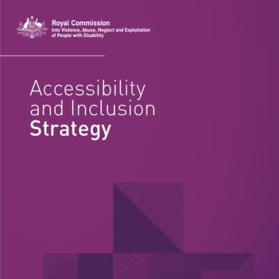 Accessibility and Inclusion Strategy document cover
