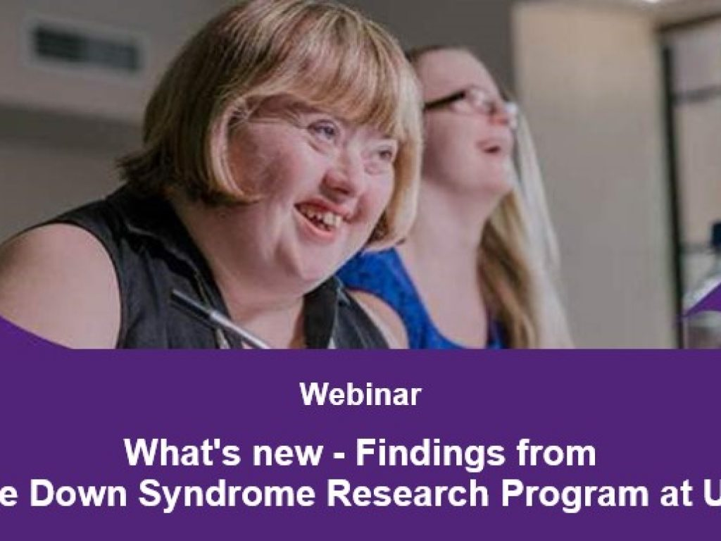 UQ- Down Syndrome Research Program WEBINAR thumbnail.