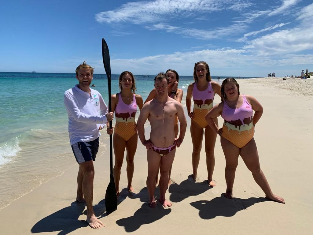 A Fundraiser – Team Rumble Apple Crumble swimming to Rottnest for DSWA thumbnail.