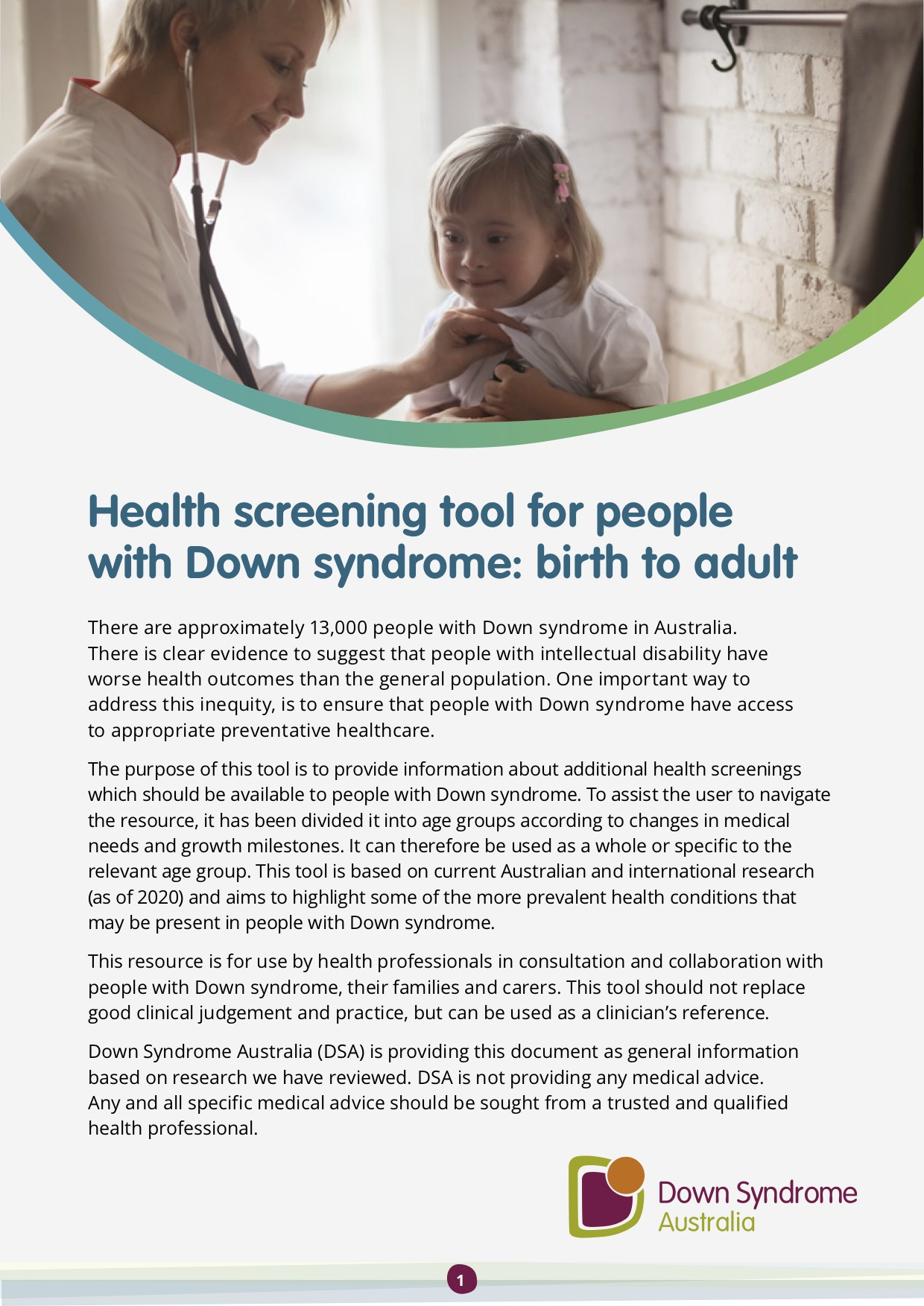 The cover of the Health Check Tool