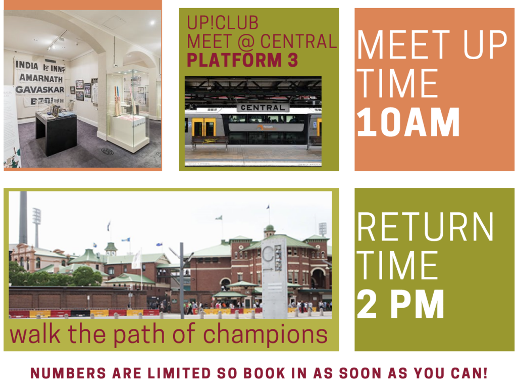 UP!CLUB MEET @ CENTRAL PLATFORM 3 MEET UPTIME 10AM. RETURNTIME 2 PM NUMBERS ARE LIMITED SO BOOK IN AS SOON AS YOU CAN!