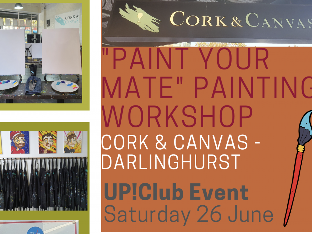 """Up!Club Painting Workshop – """"Paint Your Mate"""" thumbnail."""